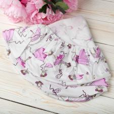 """фото простыни AmaroBaby на резинке круглая 75х75х12 поплин в цвете """"Балерины"""""""