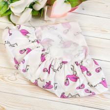 """фото простыни AmaroBaby на резинке круглая 75х75х12 поплин в цвете """"Фламинго"""""""
