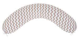 """фото подушки для беременных AmaroBaby 170х25 в цвете """"Зигзаг кофе"""""""