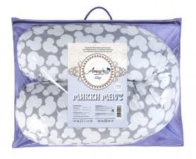 Подушка для беременных AmaroBaby 170х25 (Мышонок вид серый)