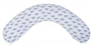 "фото подушки для беременных AmaroBaby 170х25 в цвете ""Облака вид серый"""
