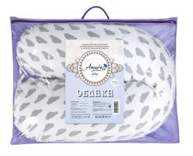 Подушка для беременных AmaroBaby 170х25 (Облака вид серый)