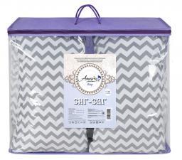 Подушка для беременных AmaroBaby U-образная 340х35 (Зигзаг вид серый)