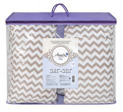Подушка для беременных AmaroBaby U-образная 340х35 (Зигзаг кофе)