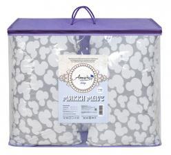 Подушка для беременных AmaroBaby U-образная 340х35 (Мышонок вид серый)