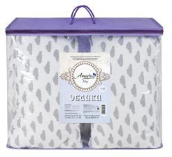 Подушка для беременных AmaroBaby U-образная 340х35 (Облака вид серый)