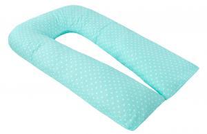 "фото подушки для беременных AmaroBaby U-образная 340х35 в цвете ""Сердечки мята"""