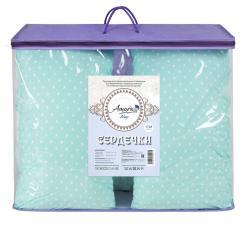 Подушка для беременных AmaroBaby U-образная 340х35 (Сердечки мята)