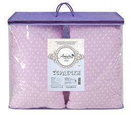 Подушка для беременных AmaroBaby U-образная 340х35 (Сердечки розовые)