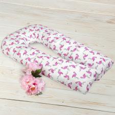 """фото подушки для беременных AmaroBaby U-образная 340х35 в цвете """"Фламинго"""""""