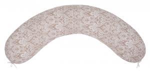 """фото наволочки к подушке для беременных AmaroBaby 34х170 в цвете """"Дамаск кофе"""""""