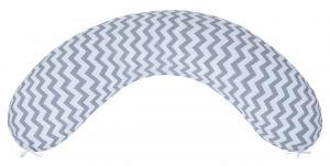 "фото наволочки к подушке для беременных AmaroBaby 34х170 в цвете ""Зигзаг вид серый"""