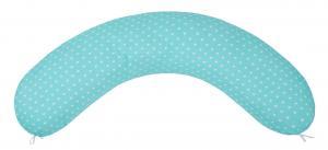 "фото наволочки к подушке для беременных AmaroBaby 34х170 в цвете ""Сердечки мята"""