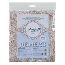 Наволочка к подушке для беременных AmaroBaby U-образная 340х35 (Дамаск кофе)