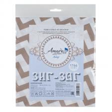 Наволочка к подушке для беременных AmaroBaby U-образная 340х35 (Зигзаг кофе)