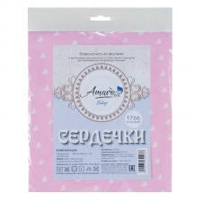 Наволочка к подушке для беременных AmaroBaby U-образная 340х35 (Сердечки розовые)