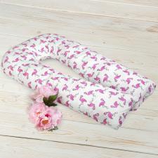 """фото наволочки к подушке для беременных AmaroBaby U-образная 340х35 в цвете """"Фламинго"""""""