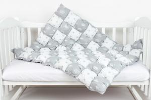 "фото одеяла-Бонбон AmaroBaby Royal Care в цвете ""Серый"""