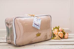 Комплект в кроватку 18 предметов (6+12 бортиков) AmaroBaby КРОХА Premium (кофе)