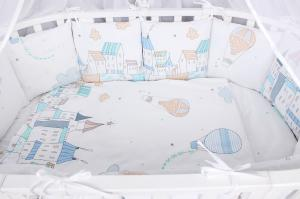 """фото комплекта Premium в кроватку 18 предметов (6+12 бортиков) AmaroBaby ФАНТАЗИЯ в цвете """"Белый"""""""