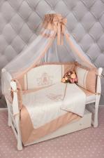 Комплект PREMIUM в кроватку 7-ми предметный AmaroBaby SWEET DREAMS (сатин, кофе)