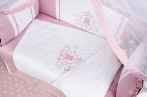 """фото комплекта PREMIUM в кроватку 7-ми предметный AmaroBaby SWEET DREAMS в цвете """"розовый"""""""