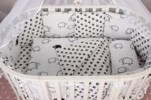 Комплект в кроватку 15 предметов (3+12 подушек-бортиков) AmaroBaby HOME ELITE (поплин/бязь)