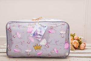 Комплект в кроватку 15 предметов (3+12 подушек-бортиков) AmaroBaby МЕЧТА (серый/розовый,поплин/бязь)