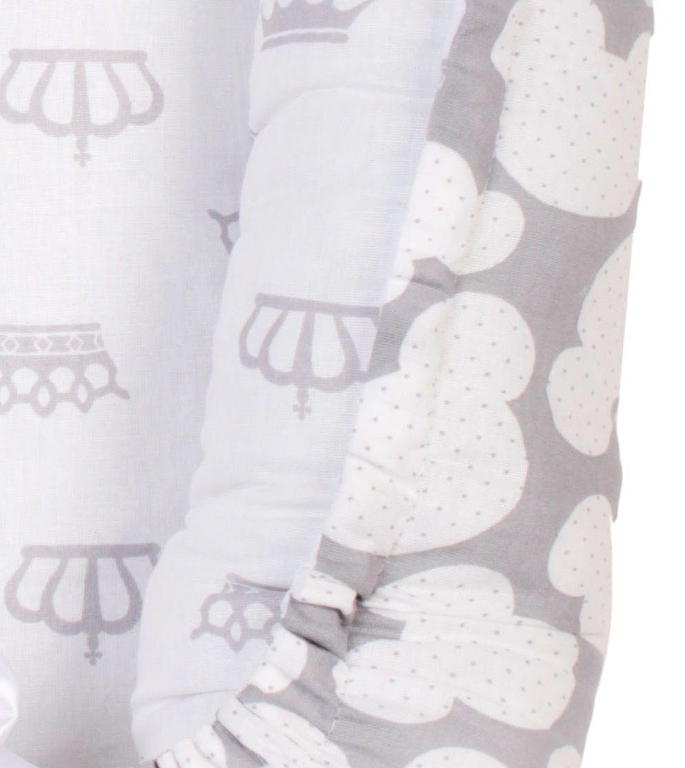 фото позиционера для сна AmaroBaby кокон-гнездышко, LITTLE BABY в цвете серый